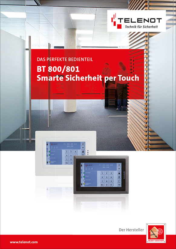 Touch-Bedienteil BT 800 / BT 801